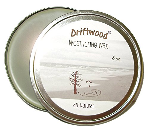 DRIFTWOOD Weathering Wax for a Subtle Gray Color and Hard Satin Wax Finish