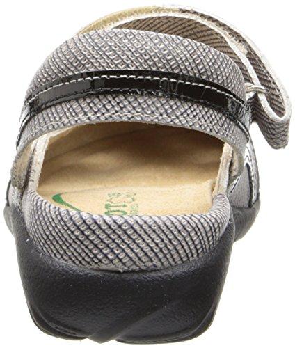 Naot Kvinna Rongo Mary Jane Platt Påse Läder / Svart Lackläder