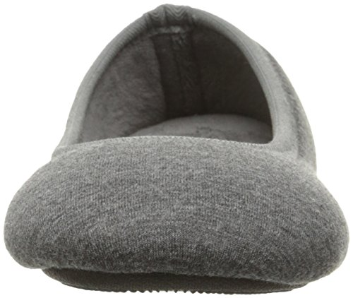 Knit Dark Comfort All Jersey Charcoal Heathered Indoor Isotoner Memory Foam Jillian Women's Slipper for Around Ballerina with 86Zwwntq