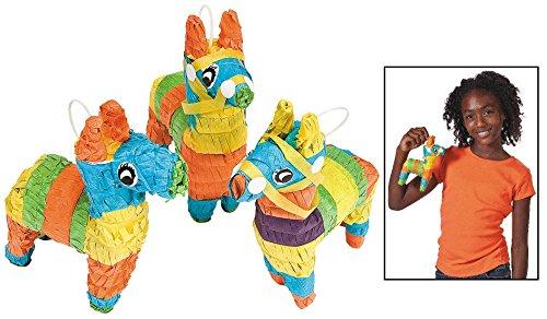 Mini Hollow Donkey Shaped Pinatas (3 Pack) Party Decor.]()
