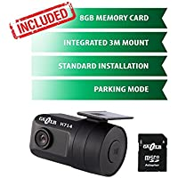 Gazer H714 HD Stealth Dashboard Camera with Car Video Security Parking Mode up to 48h/PC Software for Full SD Card Protection by Pass/Voltage Control 11,7V/RCA Video Out/OEM Installation BATT-ACC-GND