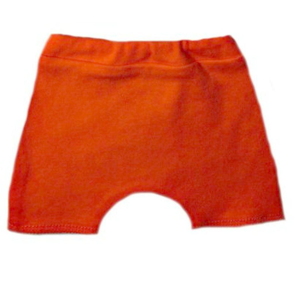 Jacqui's Unisex Baby Shorts 17 Colors 100% Cotton, 6-12 Months, Orange HJUBCKS79
