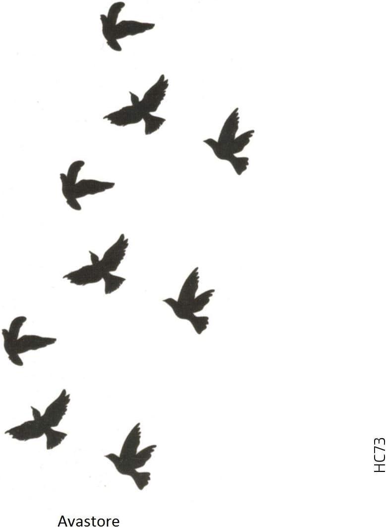 Tatouage Temporaire Femme Homme Colombes L Envol D Oiseaux Libre Paix Amour Tatouage Ephemere Femme Homme Colombes Avastore Amazon Fr Beaute Et Parfum