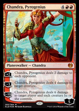 Magic: the Gathering - Chandra, Pyrogenius (265/264) - Planeswalker Deck Exclusives - Foil
