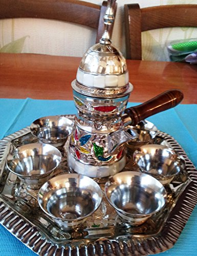 (Decorative Plated Service Set Beautiful Service. Set From Jerusalem.)