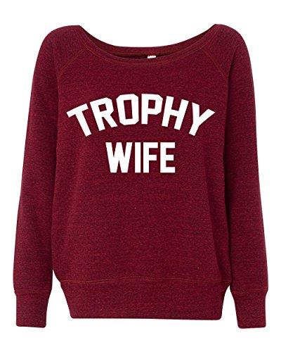 LivingTees Trophy Wife Women's Wideneck -
