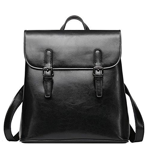 E-Girl - Bolso mochila de Charol para mujer Medium Negro
