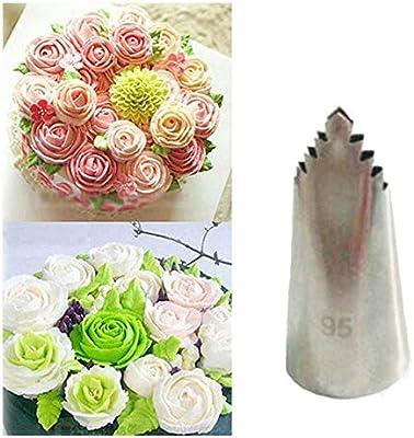 Estuche para pastelería de acero inoxidable, diseño de flores 86 ...