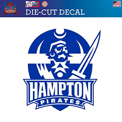 Victory Tailgate Hampton University Pirates Die-Cut Vinyl Decal Logo 1 (Approx 6x6) ()