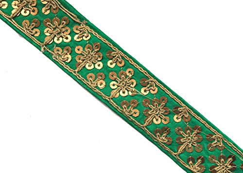 for Sewing and Craft Decorative Trim for Sewing Embroidered Ribbon Indian Sari Trim 3 Yards by Craftbot