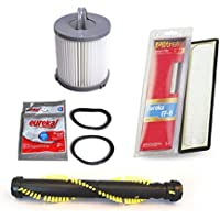 Eureka AirSpeed Bagless Upright Vacuum Cleaner DCF-21 and EF6 Filters With One Roller Brush and Extended Life Belts Kit.