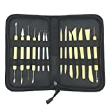 Sculpting Tools, [14 Piece] Clay Carving Set, Contains 25 Types of Tools for Pottery Art
