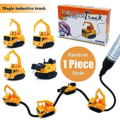 Magic Inductive Truck [Follows Black Line] Magic Toy Car Best Xmas Gift for Kids & Children- 1 Piece Send by Random