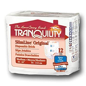 TRANQUILITY 2122 SLIMLINE BRIEF MED 96CT