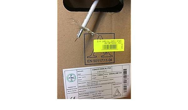 Micro tek Cable coaxial para televisión por satélite A clase 150mt cable 5 mm: Amazon.es: Electrónica