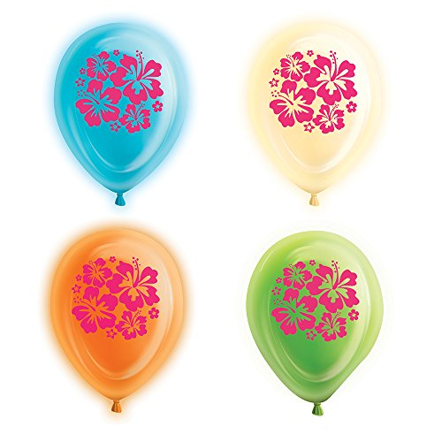 Latex Hibiscus Flower Light Balloons