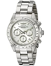 Invicta Men's 14381 Speedway Chronograph Silver Dial Stainless-Steel Watch