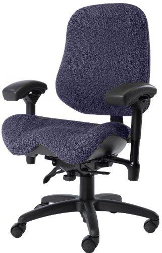 BodyBilt J2502 Blue Fabric High Back Task Ergonomic Chair with Arms, 22