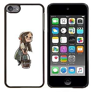 """Be-Star Único Patrón Plástico Duro Fundas Cover Cubre Hard Case Cover Para iPod Touch 6 ( Anime Girl dibujos animados del cuento de hadas Bucket Carácter"""" )"""