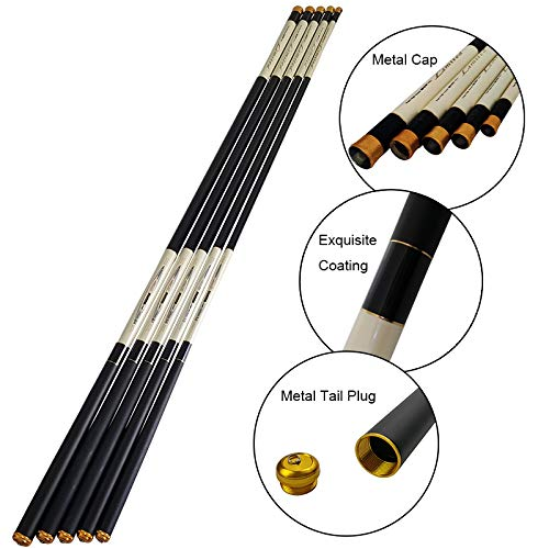WGWBHJN 30T 伸縮式カーボンファイバー釣り竿 超軽量 超硬ストリームロッドポール 3.6 4.5 5.4 6.3 7.2M 4.5 m 画像参照 B07LBLQ1N1