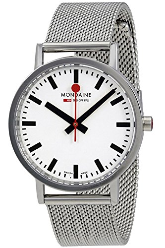 Mondaine 'SBB' Quartz Stainless Steel Casual Watch, Color:Silver-Toned (Model: (Sbb Swiss)