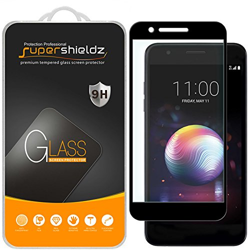 [2-Pack] Supershieldz for LG Premier Pro LTE (Not Fit for LG Premier LTE) Tempered Glass Screen Protector, [Full Screen Coverage] Anti-Scratch, Bubble Free, Lifetime Replacement Warranty (Black)