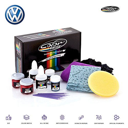 - Volkswagen DEEP Black Pearl Metallic - LC9X Touch Up Paint for Golf, Passat, GTI, Polo, Jetta, Beetle and All Models Paint Scrath and Chips Repair Kit - OEM Quality, Exact Color Match - Basic Pack