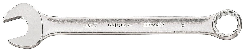 UD-Profil GEDORE 7 13 Ring-Maulschl/üssel leicht durch schlankes Maul und schmale Maulw/ände DIN 3113 Form A matt Verchromt 13 mm ergonomisch und handlich Ring 15/° abgewinkelt