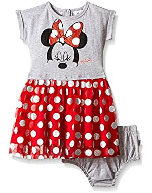 Baby Girls' Minnie Mouse Knit Dress and Panty Set