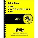 New Parts Manual For John Deere P-A Manure Spreader