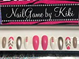 Totes Adorbs full coverage nails press on nails Hand Designed Press-on Glue-on Nails Custom Nails False Nails Fake Nails Coffin Nails Handmade Nail Set