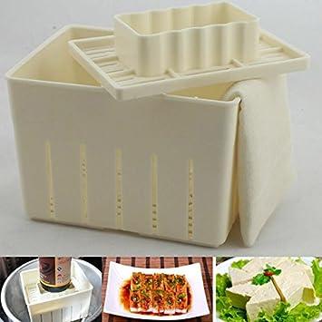 3pcs plástico Tofu prensa molde DIY Homemade Tofu eléctrica Pulsar molde kit + gamuza de queso utensilios de cocina Tofu Mold: Amazon.es: Hogar