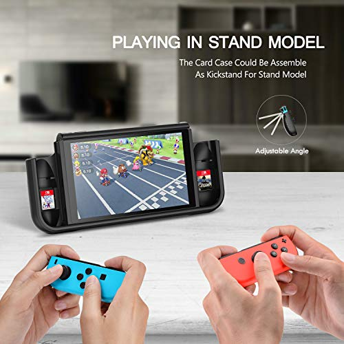 LeyuSmart Grip Case for Nintendo Switch, with Tempered Glass Screen Protector & Cat Claw Caps (Turquiose)
