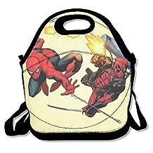 NaDeShop Deadpool Spiderman Lunch Bag Tote