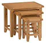 The Furniture Outlet Rustic Oak Nest of 3 Tables