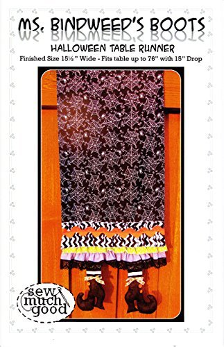 Ms. Bindweed's Boots Halloween Table Runner Pattern by Sew Much Good 15.5