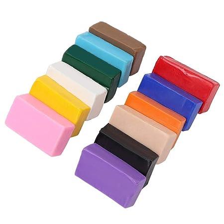 Arcilla seca al aire, 12 colores Kit de arcilla polimérica DIY ...