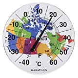 """Marathon Housewares BA030002-MAP Canadian 12"""" Indoor/Outdoor Dial Thermometer - Map of Canada"""