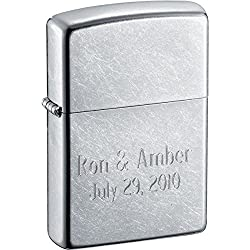 Personalized Zippo Lighter - Street Chrome - Free Engraving
