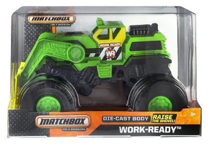 Mattel Matchbox On A Mission 1:24 Scale Work Ready Monste...