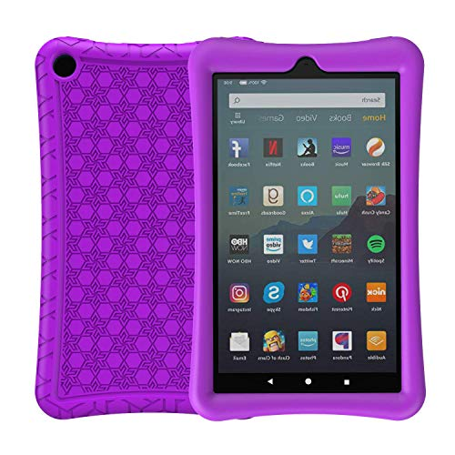 BMOUO Silicone Case for Amazon All-New Fire 7 2019/2017 - Anti Slip ShockProof Kids Friendly Case for Amazon Kindle Fire 7 2019/2017 (9th Gen & 7th Gen), Purple