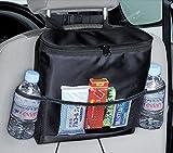 Fakeface-S Multi-Pocket Car Backseat Organizer Bag Kick Mat Drinks Holder Cooler(Heat-Preservation)