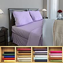 Clara Clark 1800 series Silky Soft 4 piece Bed Sheet Set Full Size, Lavender