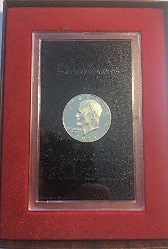 1973 S Eisenhower IKE Dollar 40% Silver Brown Dollar Proof US Mint ()