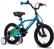 "CYCMOTO Hawk Boys Bike for 3-6 Years Child, 14"" & 16"" Kids Bicycle with Hand Brake & Trainin"