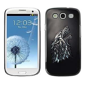 TECHCASE**Cubierta de la caja de protección la piel dura para el ** Samsung Galaxy S3 I9300 ** Metal Wolf