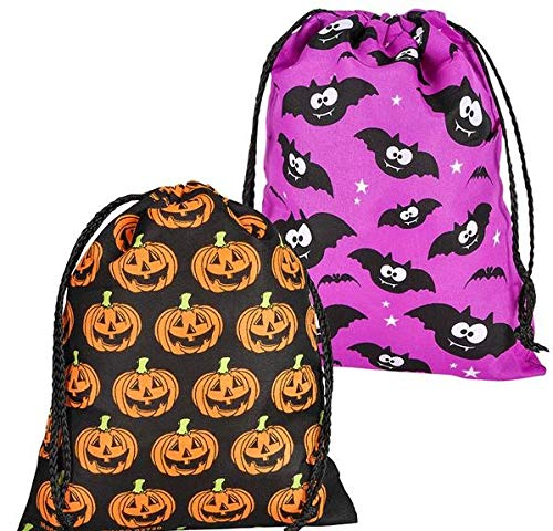 (Rhode Island Novelty Large Assorted Halloween Drawstring Trick Or Treat Bags | 12 Bags)