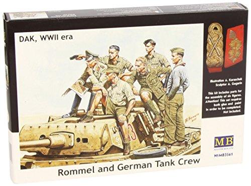 Masterbox 3561 Rommel & Tank Crew 1:35 Plastic Kit Maquette