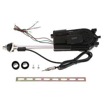 B Blesiya Car Auto Antenna Aerial Kit Auto AM/FM Radio Electric Power  Exterior Dossy