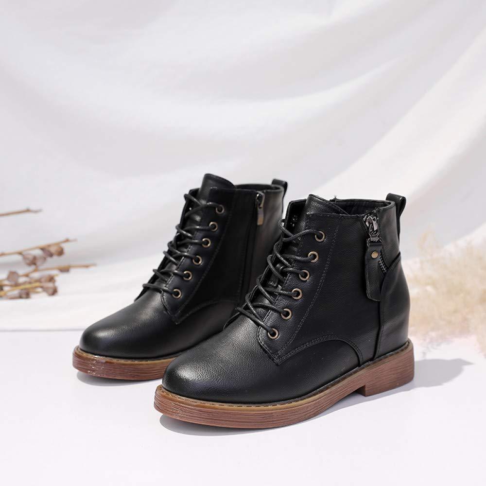 Qingchunhuangtang Baum Schuhe weibliche Winter Verdickung Wilde Martin Stiefel weibliche England Wild Stiefel hohe Stiefel